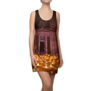 Women's Cut & Sew Racerback Dress - Ancient Egyptian Temple - will blow all away! - Yunque Store