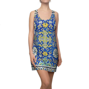 Women's Cut & Sew Racerback Dress - Art patterns in Mosque Ceramic Tiles - Yunque Store