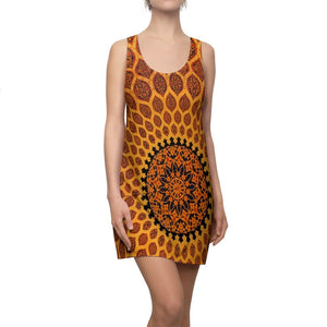 Women's Cut & Sew Racerback Dress - Awesome pattern in Mosque Cupula - Yunque Store