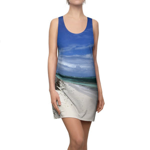 Women's Cut & Sew Racerback Dress - Awesome Remote Pajaros beach - Mona Island Puerto Rico - Yunque Store