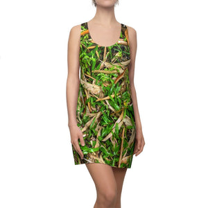 Women's Cut & Sew Racerback Dress - Bamboo leaves in the folliage - El Yunque Rainforest - Naguabo PR - Yunque Store