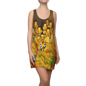 Women's Cut & Sew Racerback Dress - Buddhas in Tibetan temple - El Yunque rainforest PR - Yunque Store