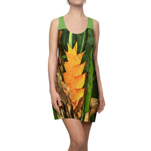 Women's Cut & Sew Racerback Dress - Heliconia flower in El Yunque lost road PR 191 after the gate - Yunque Store