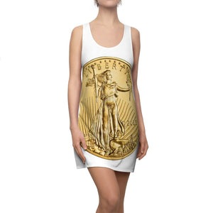 Women's Cut & Sew Racerback Dress - Liberty Pure Gold Coin - show YOUR Value! - Yunque Store