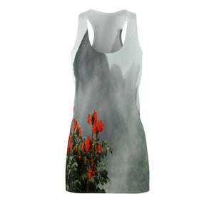 Women's Cut & Sew Racerback Dress - Telephoto View after storm from Yokahu tower - El Yunque rainforest PR All Over Prints Printify