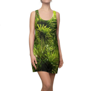 Women's Cut & Sew Racerback Dress - The air-plant BROMELIAD goes up a tree - El Yunque rainforest PR - Yunque Store