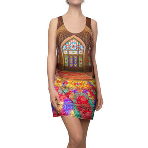 Women's Cut & Sew Racerback Dress - The awe-inspiring beauty of a Muslim Mosque - Yunque Store