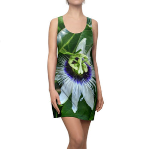 Women's Cut & Sew Racerback Dress - The Passionflower amazing flower (parcha fruit) - Yunque Store