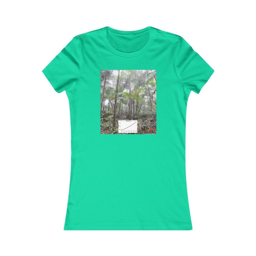 Women's Favorite Tee - Yunque Cloud Forest - El Yunque rain forest PR and forest fire with Keeling co2 curve T-Shirt Printify