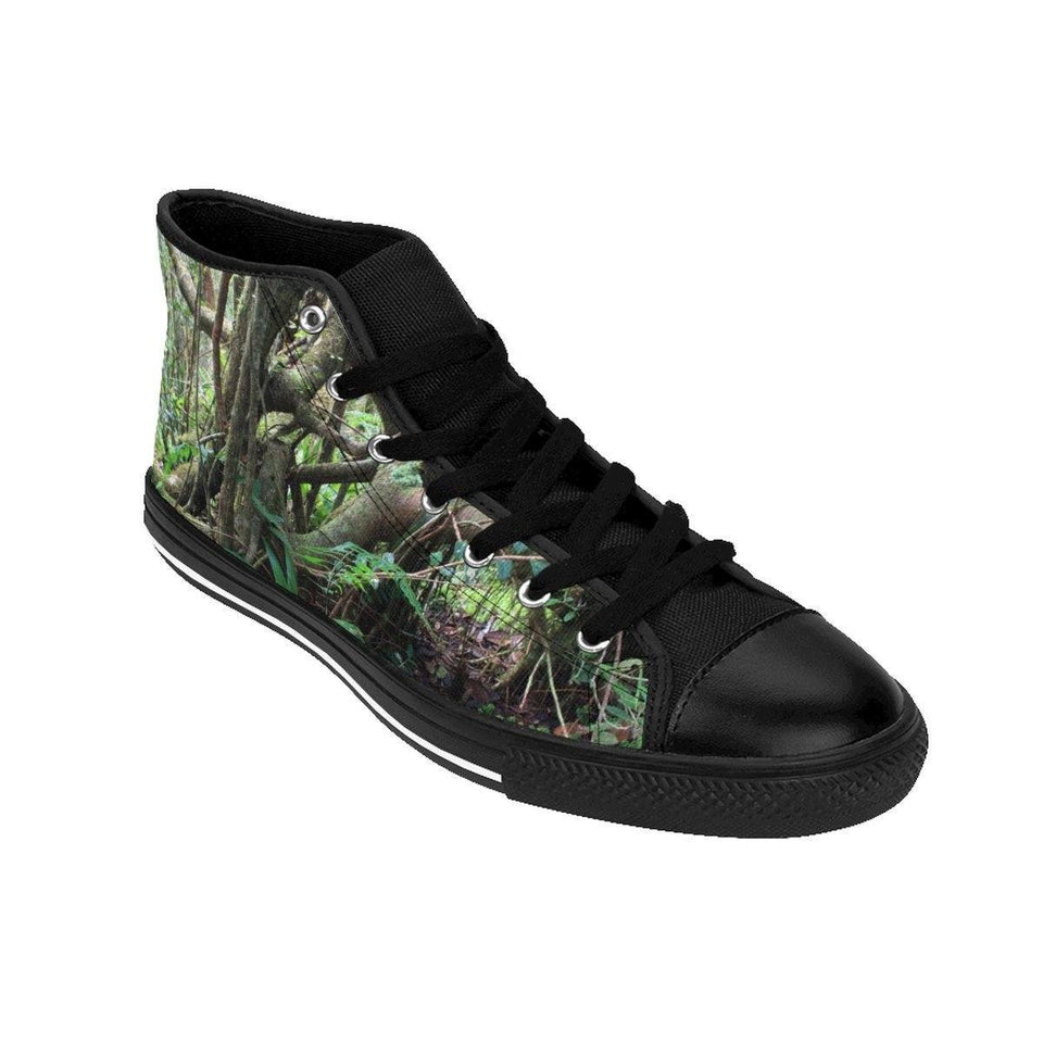 Women's High-top Sneakers - Dancing trees - Tradewinds trail cloud forest - El Yunque rain forest PR Shoes Printify