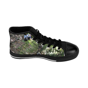 Women's High-top Sneakers - Jose exploring and enjoying a nice cool pond after days of hikes - El Yunque rain forest PR Shoes Printify
