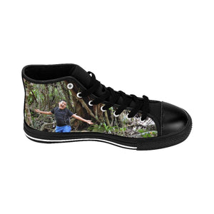 Women's High-top Sneakers - Jose exploring the forest and rivers - El Yunque rain forest PR Shoes Printify