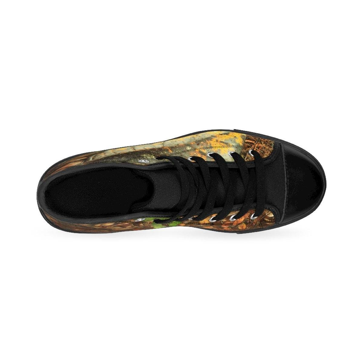 Women's High-top Sneakers - Leaves in Tradewinds trail - El Yunque rain forest PR Shoes Printify