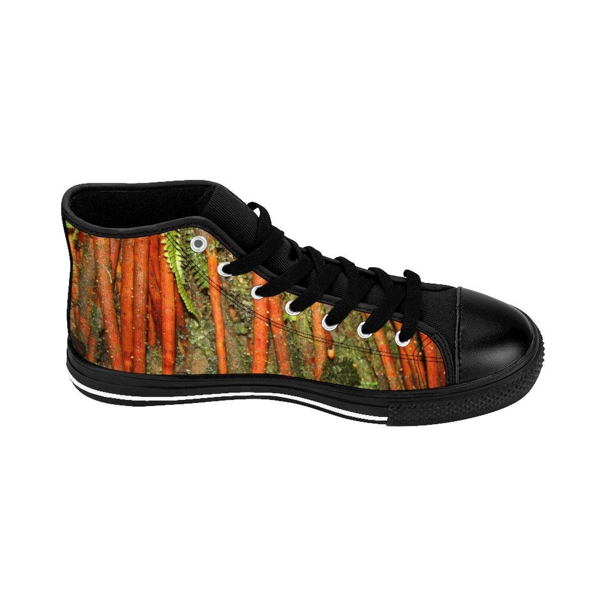 Women's High-top Sneakers - Roots of the Sierra Palm - cloud forest - El Yunque rain forest PR Shoes Printify