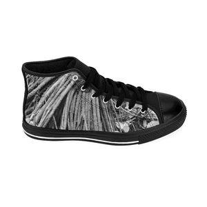 Women's High-top Sneakers - Roots of the Sierra Palm - color and B&W - El Yunque rain forest PR Shoes Printify