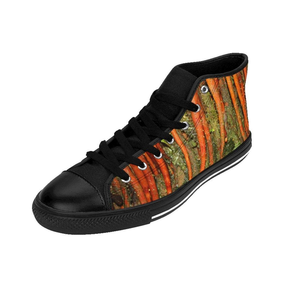 Women's High-top Sneakers - Roots of the Sierra Palm - El Yunque rain forest PR Shoes Printify