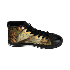 Women's High-top Sneakers - Tradewinds trail leaves - El Yunque rain forest PR Shoes Printify