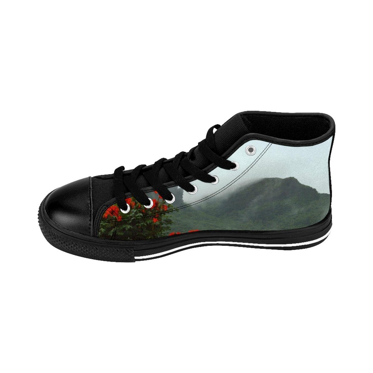 Women's High-top Sneakers - View from Yokahu tower after storm - El Yunque rain forest PR Shoes Printify