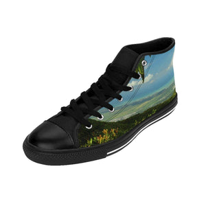 Women's High-top Sneakers - Views from 3,000 feet - El Yunque rain forest PR Shoes Printify