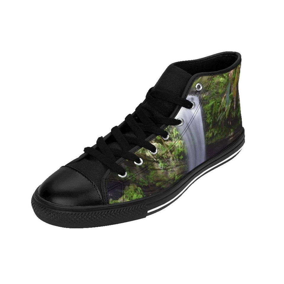 Women's High-top Sneakers - Waterfalls - El Yunque rain forest PR Shoes Printify