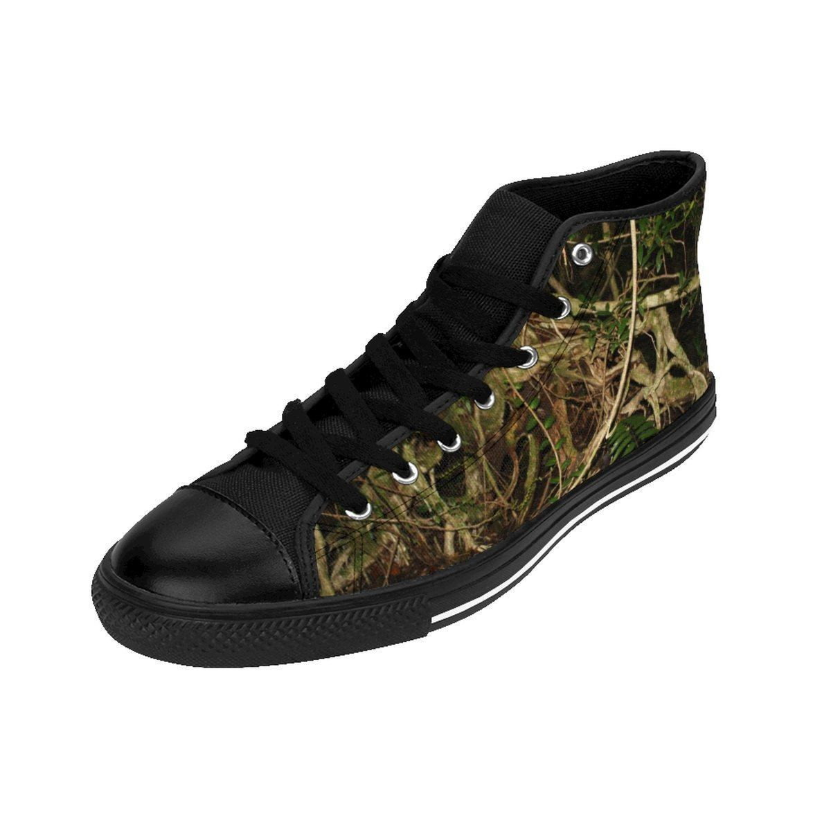 Women's High-top Sneakers - Weird trees of the cloud forest Tradewinds trail - El Yunque rain forest PR Shoes Printify