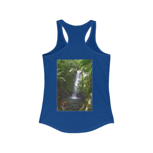 Women's Ideal Racerback Tank - EYNF - La Mina and Juan Diego waterfall / Catarata La Mina y Juan Diego Tank Top Printify