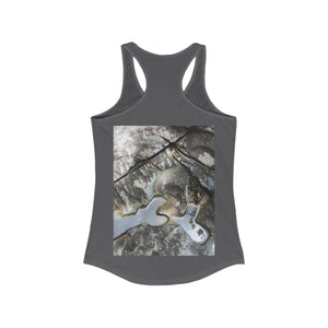 Women's Ideal Racerback Tank - Juan Diego river and erosion patterns in bouder near river - El Yunque rainforest PR Tank Top Printify