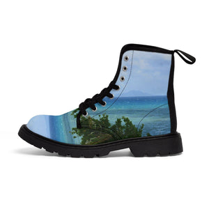 Women's Martin Boots - Beach and Coast Palmas de Mar Housing complex - Puerto Rico Shoes Printify