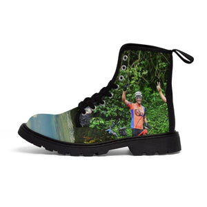 Women's Martin Boots - Brave bikers than went the steep PR 191 to Rio Sabana park - El Yunque PR Shoes Printify