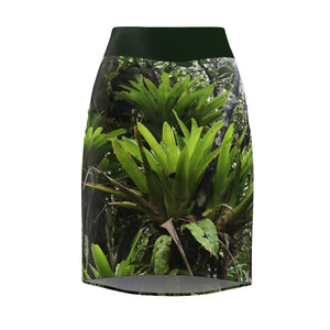 Women's Pencil Skirt - Bromeliads in Rio Sabana Trail exploration All Over Prints Printify