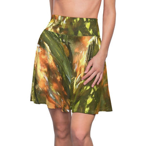 Women's Skater Skirt - Awesome rare magical image - sunset and shades in forest swamp leaves - Pterocarpus in Palmas del Mar - PR - Yunque Store