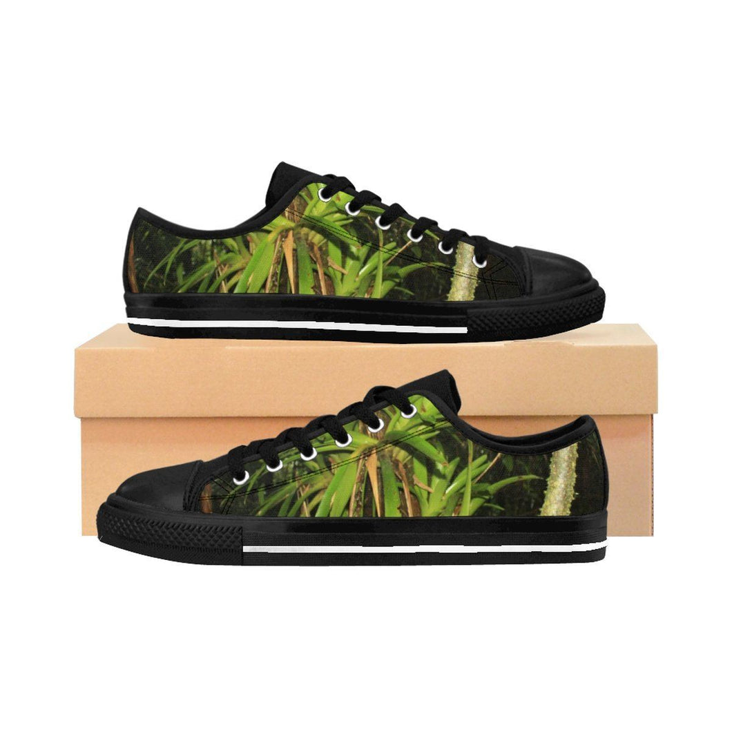 Women's Sneakers - Bromeliads from the El Yunque rain forest PR Shoes Printify