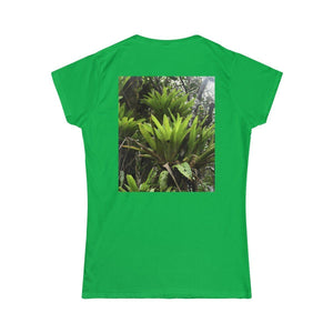 Women's Softstyle Tee - Gildan 64000L - Rio Sabana Bromeliads - in El Yunque rainforest - PR - Printed in the Czech Republic T-Shirt Printify
