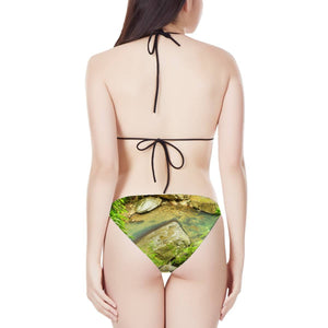 Women's Triangle Bikini Swimsuit - Awesome La Mina river and trail - Magic Pond - El Yunque rainforest Puerto Rico 😎😎😎 - Yunque Store