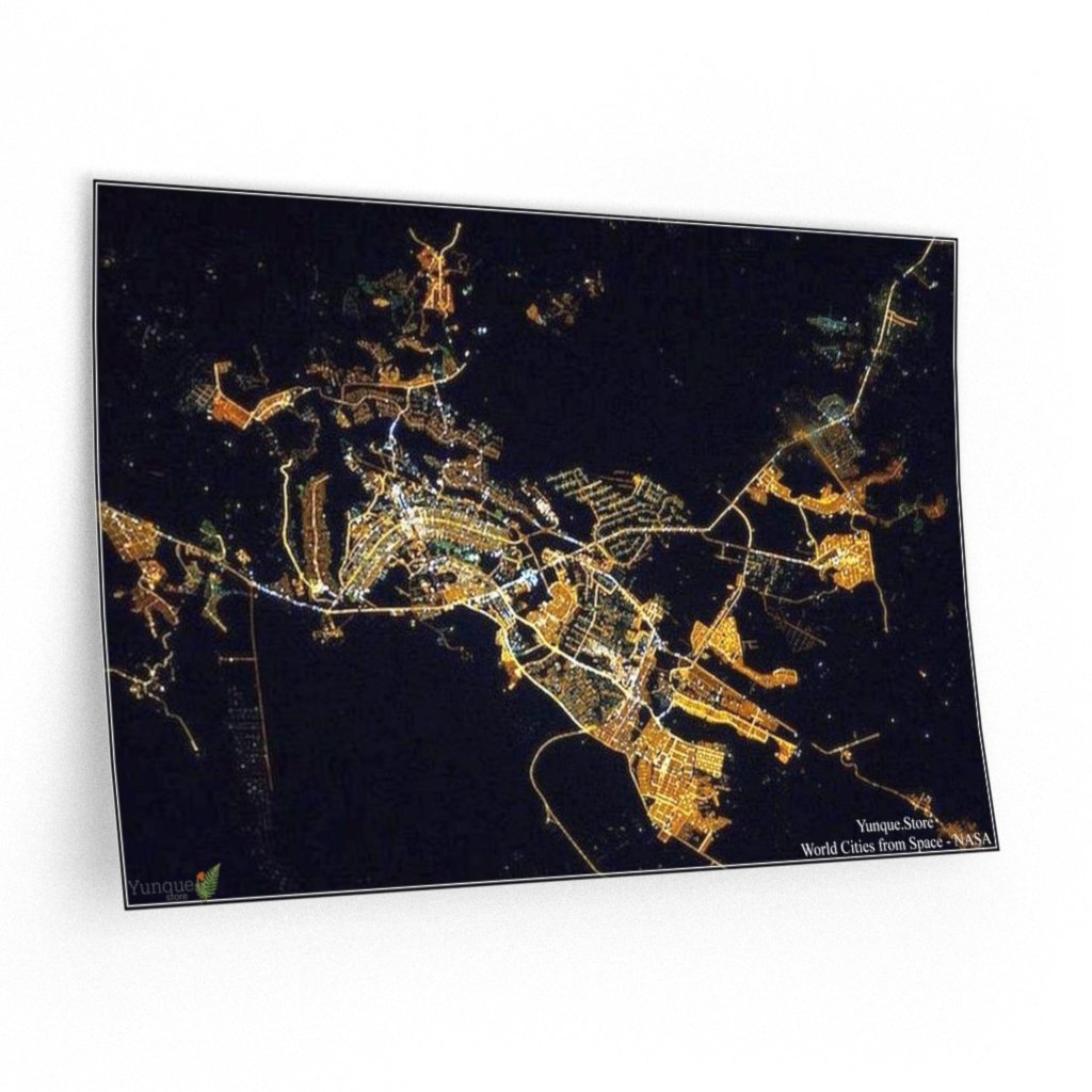 WORLD@NASA - Wall Decals - Awesome Brasilia maps from space - Yunque Store