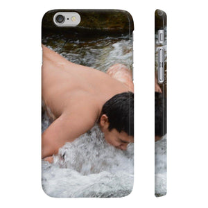 Wpaps Slim Phone Cases - UK Print - Jose in Mameyes river - El Yunque rain forest PR Phone Case Printify
