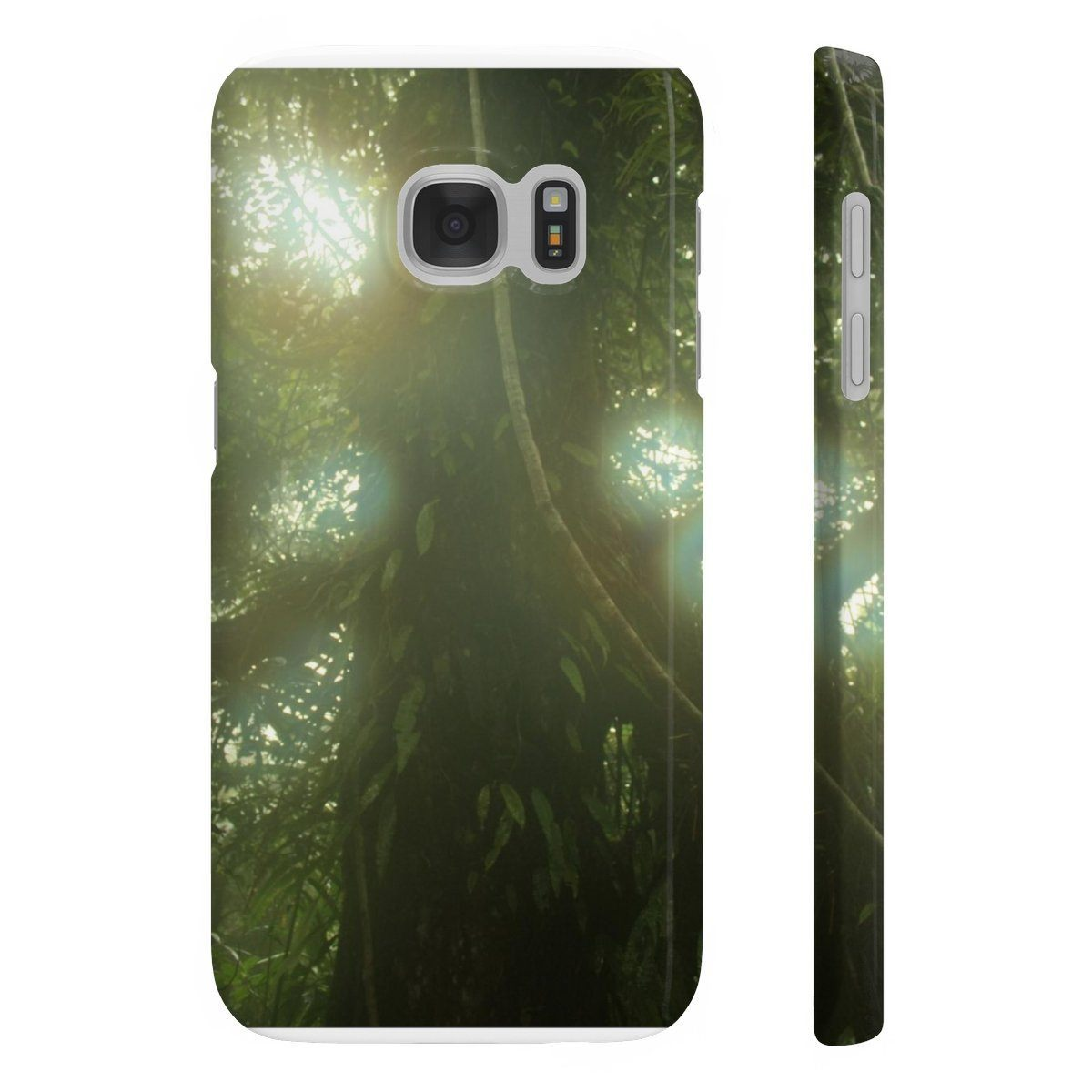 Wpaps Slim Phone Cases - UK Print - Large tree in cloud forest El Yunque Phone Case Printify