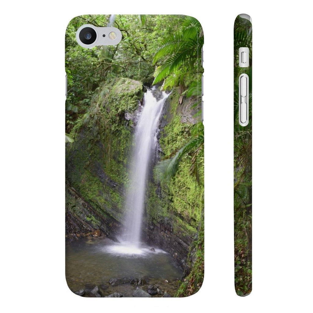 Wpaps Slim Phone Cases - Waterfall in El Yunque rain forest PR Phone Case Printify