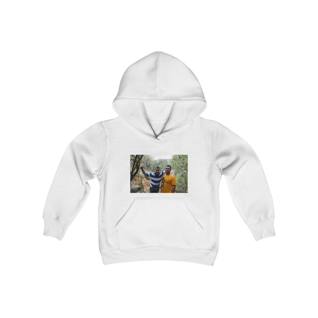 Youth Heavy Blend Hooded Sweatshirt - Jose and Mige in explorations - EYNF - El Yunque Rain Forest Puerto Rico - Yunque Store