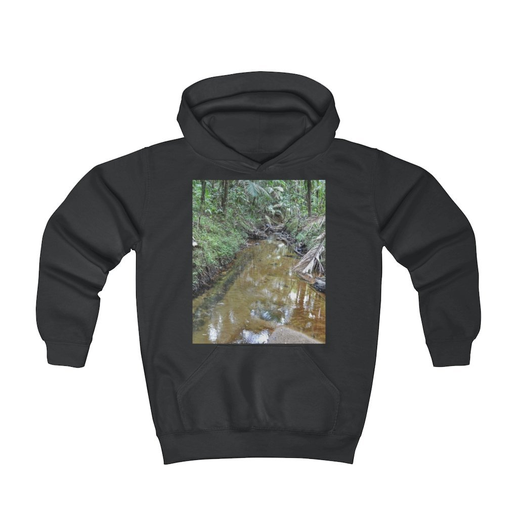 Youth Hoodie - Fruit Of The Loom 996Y - El Yunque rainforest Puerto Rico - Holy Spirit river explorations and Jose on El Yunque cloud forest trails - Yunque Store
