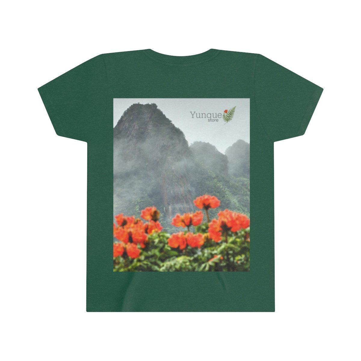 Youth Short Sleeve Tee - Bella+Canvas 3001Y - Views from El Yunque rainforest in Puerto Rico Kids clothes Printify