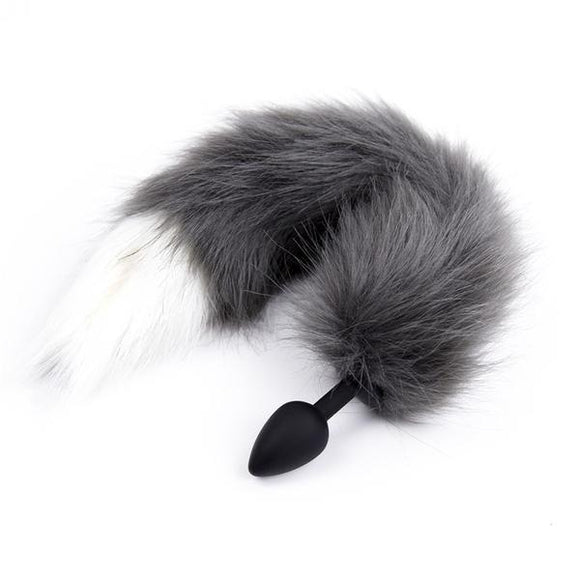 Wolf tail butt plugs