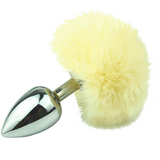 "3"" Stainless Steel Variety of Colors Bunny Tail Plug"