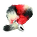 "15"" Aluminum Alloy Red Black White Small Tail Butt Plug"