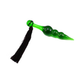 "5"" Glass Green and Black Tail Plug"