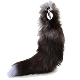 "17"" Stainless Steel Brown Cat Tail Plug"