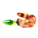 "9"" Glass Brown Fox Tail Plug"