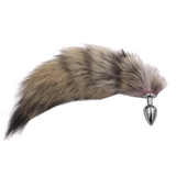 "9"" Brown Fox Tail Plug"