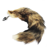 "22"" Stainless Steel Brown Fox Tail Plug"