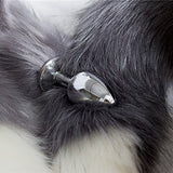 Stainless Steel Small Black Wolf Plug